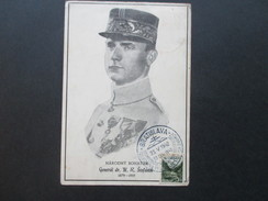 Slovenien / Tschechien 1942 Sonderkarte Narodny Bohatier. General Dr. M. R. Stefanik. Sonderstempel Bratislava - Slowenien
