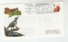1992 Geneve Ne USA WILDLIFE EVENT COVER Pmk  BEAR FLAMINGO PENGUIN Pic  BIRD Stamps Birds