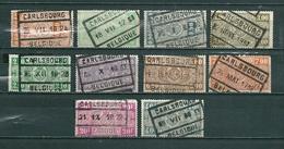 Lot Met 10 Zegels CARLSBOURG - 1923-1941