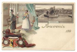 +++ CPA - Carte Publicitaire - Publicité CACAO SUCHARD - Suisse Schweiz Svizzera - GENEVE - 189?  // - GE Geneva