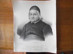 M. DOMINIQUE SALHORGNE ANCIEN VICAIRE GENERAL DU DIOCESE DE TOURS DECEDE A PARIS LE 25 MAI 1836 LITH. DE VILLAIN RUE DE - Other