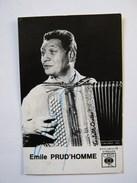 """CARTE CBS  """" EMILE PRUD'HOMME"""",DISCOGRAPHIE,ACCORDÉON,MUSETTE,DEDICACÉE,OPÉRETTE - Fotos"""