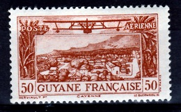 """French Guiana, Airmail Without """"RF"""", 50c., 1942, MH VF - French Guiana (1886-1949)"""