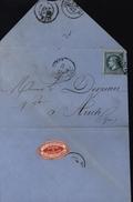 Enveloppe Illustrée Napoléon III Manufacture Vermicelles Toulouse Facture Farine Amidon Vignette Vapeur YT 29 - 1849-1876: Classic Period