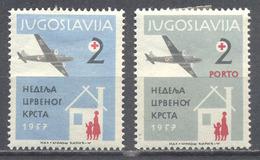 Yougoslavie Timbres De Bienfaisance YT N°29/30 Pour L'aviation Sanitaire Neuf/charnière * - Bienfaisance