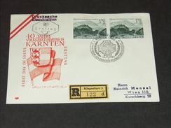 FDC Ersttag 10.10.1960: 40. Jahrestag Der Volksabstimmung In Kärnten RECO - FDC