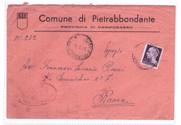 ITALY Lieutenance Busta Dal Comune Di Pietroabbondante 6-3-1945  N° 522 Very Fine Used - 5. 1944-46 Lieutenance & Umberto II