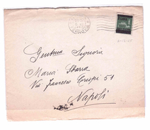 ITALY Lieutenance Lettera Da Roma A Napoli 6-12-1945  N° 525 Very Fine Used - 5. 1944-46 Lieutenance & Umberto II