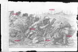 """Photographie - Plaque De Verre 9x6 - Carte Postale """"Les Boues De La Somme"""" (B 513-1, Lot 10) - Glass Slides"""