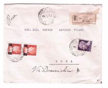 ITALY Lieutenance Raccomandata Da Roma Per Roma 6-03-1945  N° 523+531 Very Fine Used - 5. 1944-46 Lieutenance & Umberto II