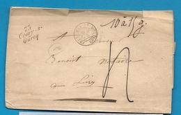 Seine Et Marne - Crouy Sur Ourcq Pour Lizy. Cursive + CàD Type 15 De MAY En MULTIEN. Enveloppe Pesante. 1846 - 1801-1848: Precursors XIX