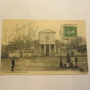30 - TRESCOL  -  Le Temple Et A Gauche Le Chevalemnt Du Puits Du Gouffre En 1913 - France
