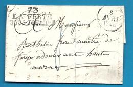 Seine Et Marne - La Ferté Sous Jouarre Pour Les Forges De Doulevant (Haute Marne). LAC De 1828 - Marcophilie (Lettres)