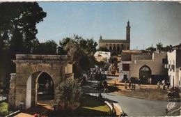 ALGERIE - LAGHOUAT - LE MONUMENT AUX MORTS ET LA MOSQUÉE - CACHET MILITAIRE AU DOS - Laghouat