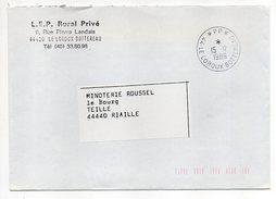 Cachet Manuel Du 15-12-1986--Cachet Manuel LE LOROUX BOTTEREAU--44--Mention PP Sur Lettre Pers LEP Rural Privé - Marcophilie (Lettres)