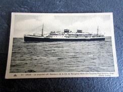 """CPA - ORAN - Le Paquebot """"El Mansour"""" De La Cie De Navigation Mixte (Cie Touache) - Port Vendres-Oran - Piroscafi"""