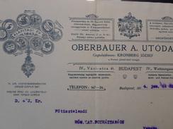 Budapest , Oberbauer Utoda , Szamla ***  1914 - Wechsel