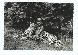 Enfant Et Léopard Tué à La Chasse - Cpsm Mission Des Pères Blancs Non Voyagée - - Burkina Faso