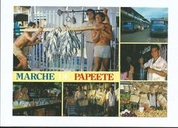 TAHITI Le Marche à Papeete Poisson Sur Rondin Camion - Cpm 83 Sans Timbre - Polynésie Française