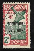 Inini, Scott # 2 Mint Hinged  French Guiana Stamp Overprinted, 1932 - Inini (1932-1947)