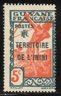 Inini, Scott # 5 Mint Hinged  French Guiana Stamp Overprinted, 1932, Crease - Unused Stamps