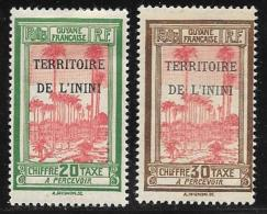 Inini, Scott #J3-4 Mint Hinged  French Guiana Postage Due Overprinted, 1932 - Unused Stamps