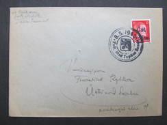 BRIEF Revolutionsstempel Teplice 8.5.1945 // D*22018 - Böhmen Und Mähren
