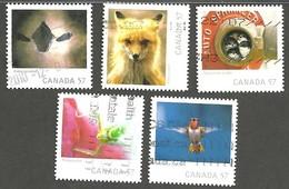 Sc. # 2389-93  Wildlife Photography, Canadian Geographic Contest Winners Set Used 2010 K941 - 1952-.... Règne D'Elizabeth II