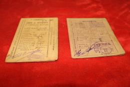 Trois Cartes De Rationnement Hyères 1942 Et 1946 - 1939-45