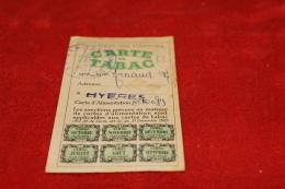 Carte De  Rationnement De Tabac Hyères (Var) - 1939-45