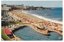64 - BIARRITZ - La Grande Plage Et Le Casino Bellevue - Ed. CAP N° 3240 - 1968 - Biarritz