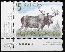 CANADA 2003, # 1693, WILDLIFE DEFINITVES: MOOSE M NH LL - Blocs-feuillets