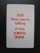 Autelca Phonecard,Hong Kong IDD,100$ Facevalue,used - Hong Kong