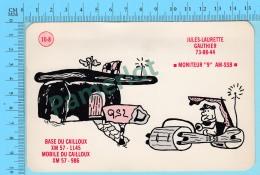 QSL- CB- BASE & MOBILE Du Cailloux, Flintstone Pierrafeu - Quebec- 2 Scans - CB