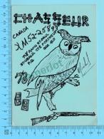 QSL- CB-  Chasseur, Hibou, Oiseau - St-Urban Cté Porneuf Quebec- 2 Scans - CB