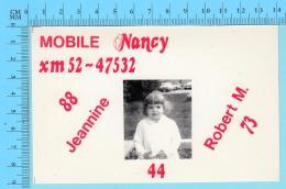 QSL- CB-  Mobile Nancy, Fillette - Montreal Quebec- 2 Scans - CB
