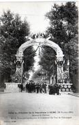 -E-   Visite Du Président De La République à REIMS (19 Octobre 1913) / Avenue De Chalons Commerce Des Vins De Champagne - Reims