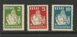 ESTLAND Estonia 1933 Michel 99 - 101 MNH - Estonie