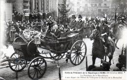 -E-   Visite Du Président De La République à REIMS (19 Octobre 1913) / Départ Hotel De Ville Pour Maison Mutualité - Reims