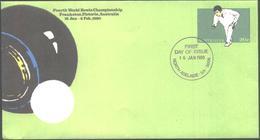 FDC Sport Fourth World Bowls Championship Frankston 1980 From Australia