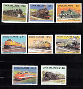 Train, Eisenbahn, Locomotive, Railway: Cook Islands 1985 Mi Nr 1047 - 1054 Compleet Postfris - Treinen