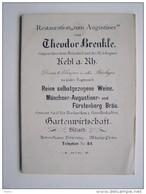 KHEL-am-RHEIN Restaurant Gasthaus Théodore BRENKLE  Zum Augustiner Publicité - Kehl