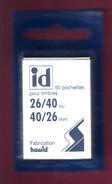 4 LOTS DE 50 POCHETTES ID FOND NOIR FAB. HAWID DOUBLE SOUDURE  26 X 40 ENVIRON 30% DE REMISE PRIX VENTE CONSEILLE 3.00 - Stamps