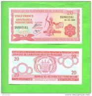 BURUNDI - 2005/20 Francs/Dancer UNC - Burundi