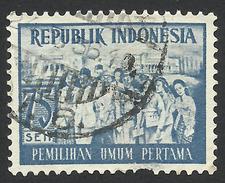Indonesia, 75 S. 1955, Sc # 413, Used - Indonesia