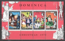 Dominica 1970 Mi Block 5 MNH CHARLES DICKENS Christmas - Dominica (...-1978)