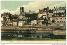 Nevers .  Le Quai De La Loire .   SUPERBE CARTE COULEUR . - Nevers