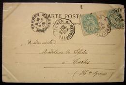 1903 Saint Omer à Berguette (poste Ferroviaire) Sur CPA D'aire Sur La Lys - Marcophilie (Lettres)