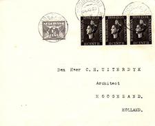 1938 Brief Lokaal Verzonden In  Hoogezand Met NVPH 169 En 3x 310 - Periode 1891-1948 (Wilhelmina)