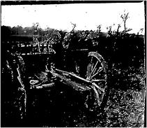 Photo Ancienne Originale Animée Un Affut 2 Officiers    1914 1918 Ww1 Grande Guerre - Guerra, Militari